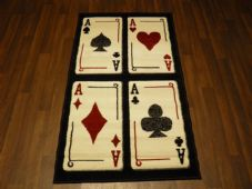 Modern Approx 5x3ft 80x150cm Woven Top Quality playing cards Rugs/Mats sparkle